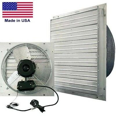 12 Shutter Exhaust Fan - 1100 Cfm - 115 V - 130 Hp - 1 Ph - 3 Speed - Direct