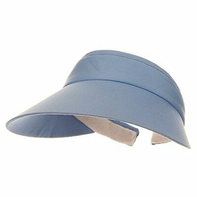 (MG Womens Large Peak Twill Clip On Sun Visor)