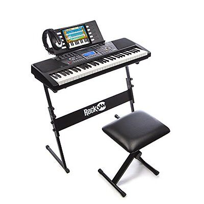 Electronic Keyboard SuperKit Stand Stool Headphone Music Instrument Piano