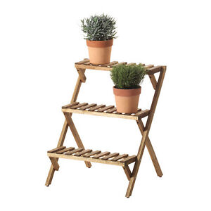 CUTE acacia wood PLANT STAND FROM IKEA - VINRUTA - as new
