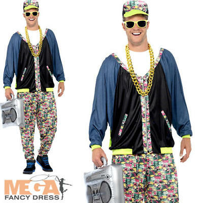 80's Hip Hop Mens Fancy Dress Music Celebrity Rapper Dance Adults Costume Outfit - 80 Hip Hop Clothes