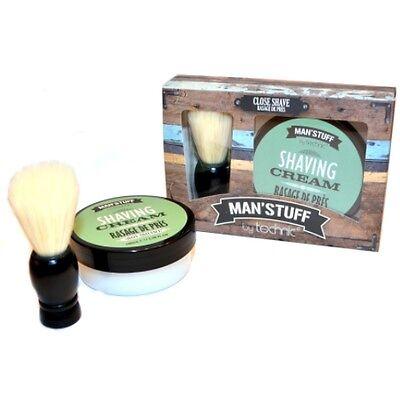 Man'stuff 100ml Shaving Cream und Shaving Brush Rasier Pinsel+Creme