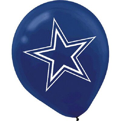 NFL DALLAS COWBOYS LATEX BALLOONS (6) ~ Birthday Party Supplies Decoration
