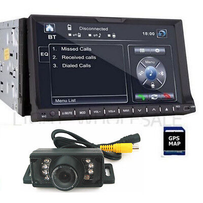 "SONY Lens GPS 7"" HD Double 2 Din Car Stereo Radio DVD Player Bluetooth SD+Camera"