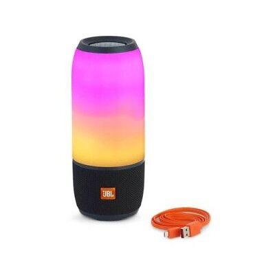 JBL Pulse 3 Black Waterproof  Wireless Speaker With Color Sound
