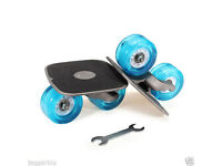 SET OF DRIFT SKATES WHEEL L@@K INLINE FLASHING BLUE LED WHEELS RARE EXTREME FUN*