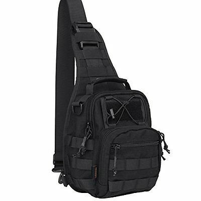 Reebow Gear® Military Tactical Sling Bag Pack EDC Molle Travel Crossbody Chest
