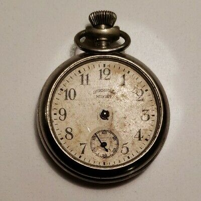 Antique 1920s Pocket Watch Ingersoll Midget AS-IS FOR PARTS Serial No. 45473591
