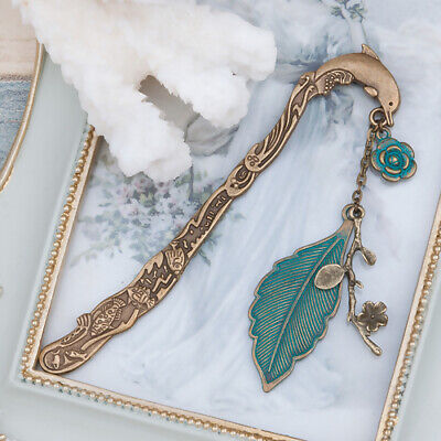 Retro Animal Dolphin Leaf Flower Bookmark Jewelry Stationery Reading Accessories