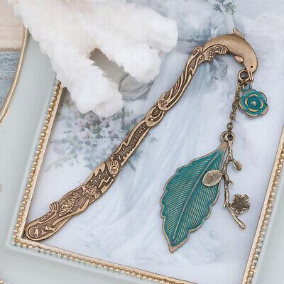 Retro Animal Dolphin Leaf Flower Bookmark Jewelry Stationery Reading