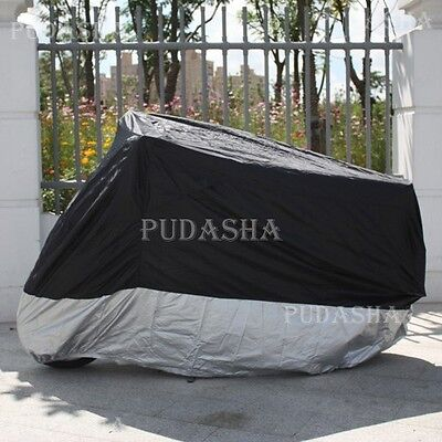 XL Large Waterproof Motorcycle Cover Universal Fit Cruisers Touring Bikes PM3BS