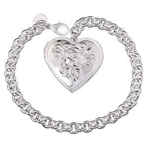 Unique & Elegant Pure 925 Sterling Silver Heart Shape Locket 8