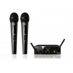 AKG WMS40 DUAL VOCAL WIRELESS MICROPHONE SYSTEM ** MEGA DEAL NEVER SEEN BEFORE **