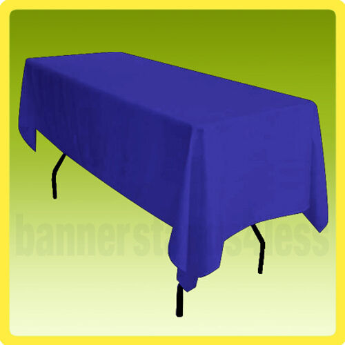 60x102 Rectangle Tablecloth Table Cover Wedding Banquet POLYESTER - ROYAL BLUE