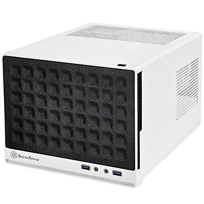 SilverStone Mini-DTX, Mini-ITX Small Form Factor Computer Case Black/White NEW
