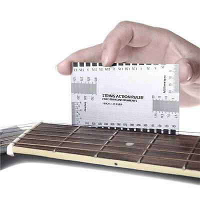 Best Electric Guitar String Action Ruler Luthier Tool Configuration US