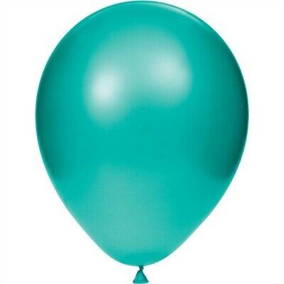 Teal Lagoon 12-inch Latex Balloons 12 Pack Birthday Party - Teal Balloons Decorations