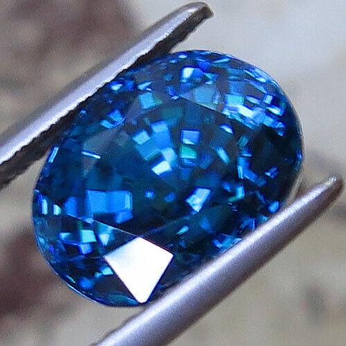 Intense blue zircon  8.40ct