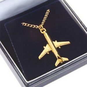boeing 737 22 carat gold plated pendant chain ebay