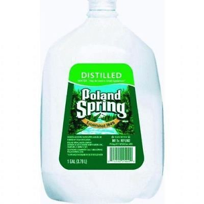 Poland Springs Water Distilled 6 One Gallon Bottles Free Shipping