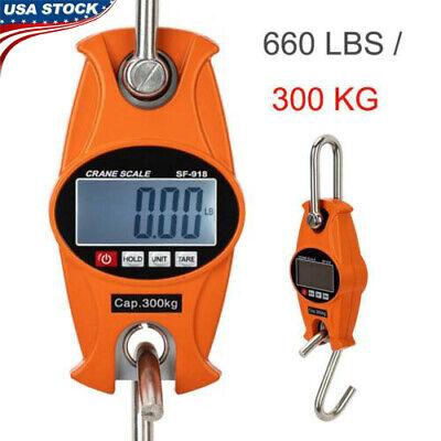 Industrial Crane Scale 660lb300kg X 0.1lb 0.1kg Mini Digital Hanging Scale