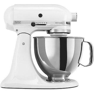 details about kitchenaid rrk150wh white 5 quart artisan stand mixer