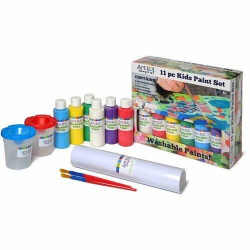 Art 101 Young @ Art 11 pc Kids Washable Paint Set NIB