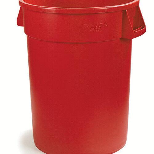 Carlisle 34103205 Round Waste Container - 32 Gallon Cap., Red