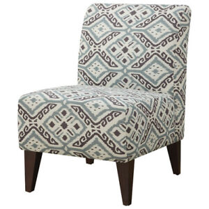 SCARLETT TRANSITIONAL POLYESTER FABRIC ACCENT CHAIR