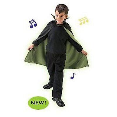 Monster Mash Costumes (Kids Monster Mash Musical Cape Halloween Vampire Black and Green Frankenstein)