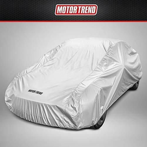 Motor Trend FlexCover Waterproof Car Cover for Rain Wind All Weather Medium