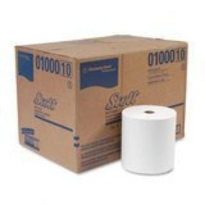 - Kimberly-Clark 01000 Scott High-capacity Hard Roll Towels, 8 X 1000', White,