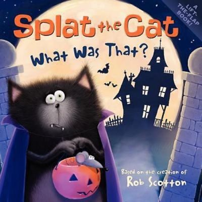 Splat the Cat What Was That? Lift The Flap Kids Halloween Book Ages 4-8 NEW](Splat The Cat Halloween Book)
