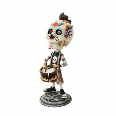 7 Inch Day of The Dead Bobblehead Snare Drummer Player Figurine
