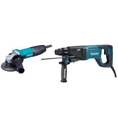 Makita Hr2621x2 1-inch Rotary Hammer Sds-plus Ga4530 4-12-inch Grinder Kit