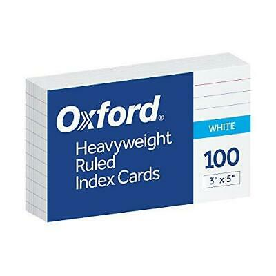 Oxford Heavyweight Ruled Index Cards 3 X 5 White 100 Per Pack 63500