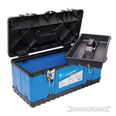 "Toolbox Tool box Tool Storage Carry Handle Tray Metal 17"" Impact Resistant"