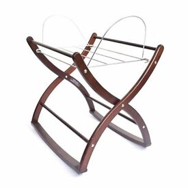 Moses Basket with matress, sheet and stand