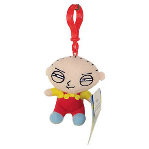 Family-Guy-Plush-Clip-STEWIE-plastic-clip-3-5-inch-New-Stuffed-Animal