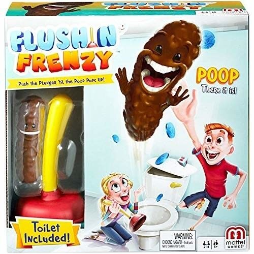 Mattel Flushing Frenzy Game for Kids Ages 5 and Up Plunger T