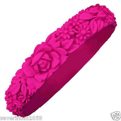 Bracciale flower Fluo silicone Fullspot oclock colorati bracciali fiori Slim new
