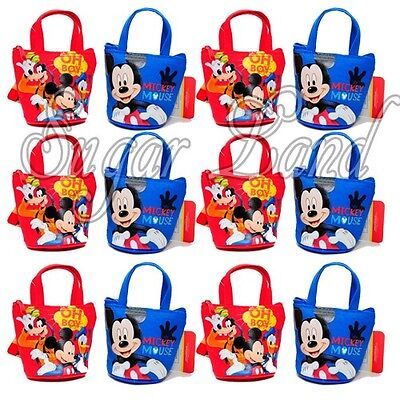 12 PCS Disney Mickey Mouse Candy Bags Mini Coin Purses Party Favors Fillers](Candy Bags Purses)