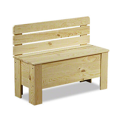 Holztruhe Holzbank Truhenbank Sitzbank für Kinder Spielkiste Kiste B-12*