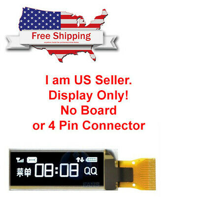 5pcs 0.91 128x32 I2c White Oled Lcd Display Module For Arduino Usa Seller