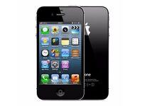 Iphone 4, 32gb, on vodaphone, lebara, sainsbury and talk home network, £50 fixed price