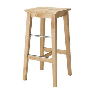BOSSE Bar stool, birch