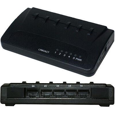 5 Port Way 10/100MBps Ethernet Network Switch-RJ45 Lan Box Selector Splitter Hub