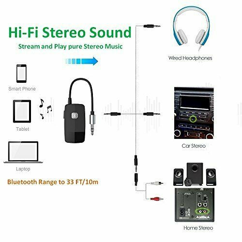 Golvery Bluetooth Receiver Advanced Bluetooth 4.2, A2Dp Portable Wireless Au