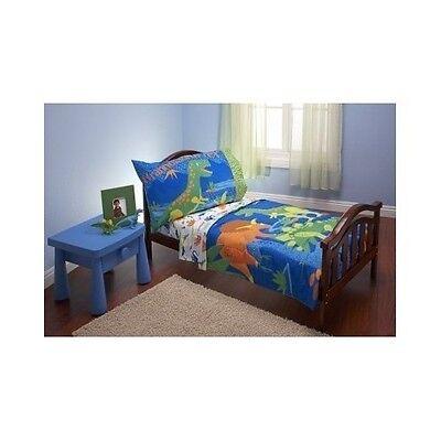 Toddler Bedding Sheets Baby Set 4 Pcs Dinosaurs Rex Pillowcase Quilt Microfiber
