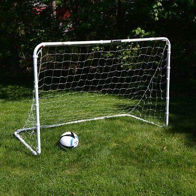 Soccer Goal For Backyard Toddlers Kids Training Play Portable Net 6x4 Steel MLS ()